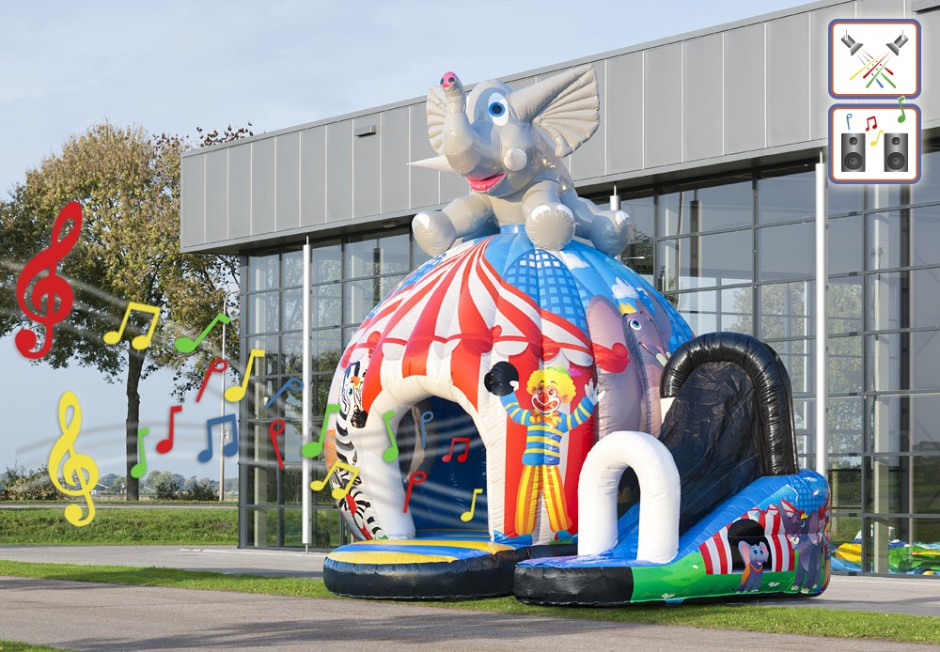 springkasteel disco fun circus for kids te huur 1